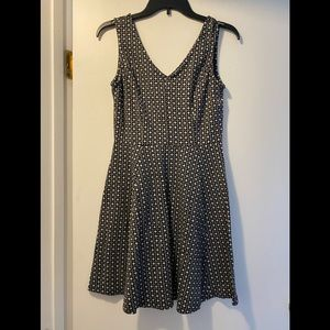 ☀️Hearts sleeveless black & white dress medium